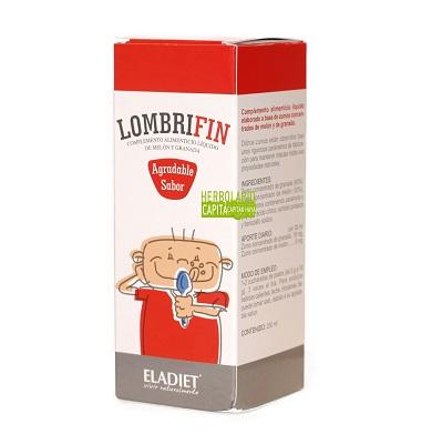 Lombrifin es un complemento alimenticio a base de zumos concentrados de melón y de granada.