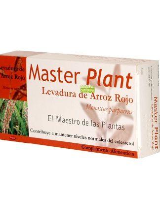 Master Plant Levadura Arroz Rojo es un complemento alimenticio a a base de levadura de arroz rojo.