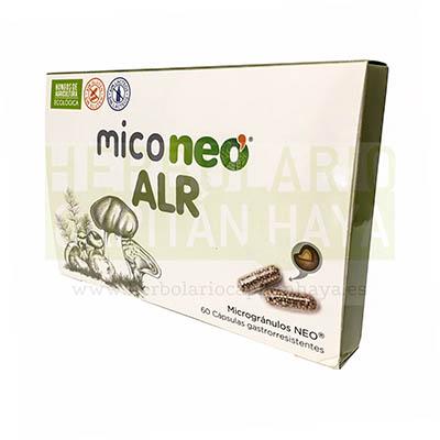 MICONEO ALR es un complemento alimenticio a base de hongos medicinales y Sol de Oro que ayudan a contrarrestar los síntomas de la alergia.
