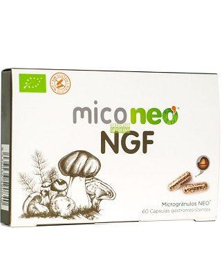 Miconeo NGF es un complemento alimenticio a base de extractos de Bacopa, Melena de León, Reishi y Cordyceps.