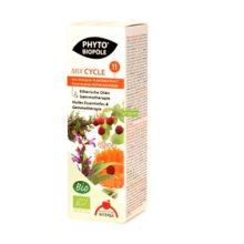 Mix Cycle 11 Phyto Biopole es un complemento alimenticio a base de extractos de plantas frescas biológicas con beneficios para regular el ciclo. Apto para veganos.