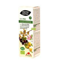 Mix Pec 7 Phyto Biopole es un complemento alimenticio a base de Plantas y Aceites Esenciales con beneficios para favorecer la respiración. Apto para veganos.