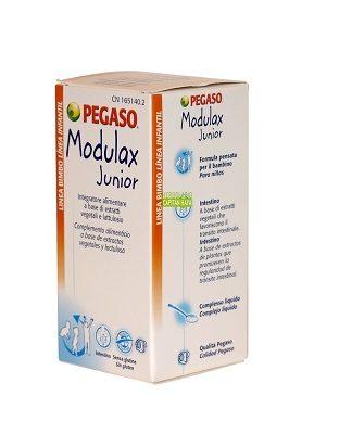 Modulax Pegaso es un complemento alimenticio a abse de extractos vegetales y lactulosa.