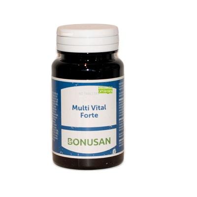 Multi Vital Forte Bonusan es un complemento alimenticio a base de vitaminas y minerales.