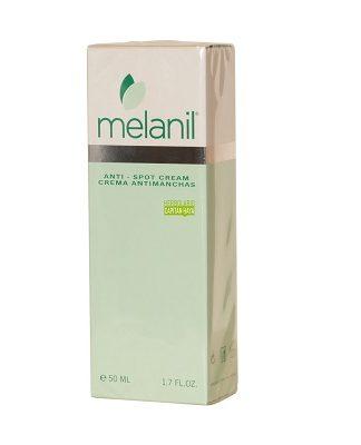 Melanil es una crema antimanchas de la piel que reduce la producción de melanina, aclarando y eliminando de esta manera las manchas oscuras de la piel y previniendo la formación de nuevas manchas.