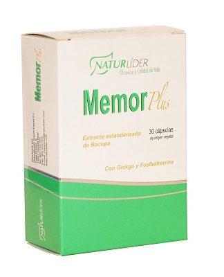 Memorlider Naturlider es un complemento alimenticio a base de extracto estandarizado de Bacopa, Ginkgo y Fosfadilserina.