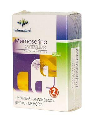 Memoserina Complex Internature es un complemento alimenticio a base de Vitaminas, Amonoácidos y Gingko Biloba.