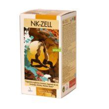 NK-ZELL es un coplemento alimenticio a base de hongos Chaga, Cordyceps, Champiñon del Sol: , Shiitake,Maitake,Reishi y plantas silvestres: Acerola,Cúrcuma y Lapacho.