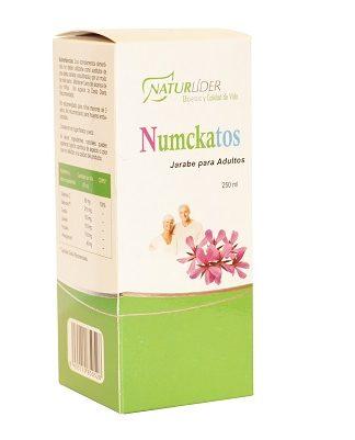 Numckatos Naturlider es un complemento alimneticio prsentado en formato jarabe para adultos a base de extratos secos vegetales,própolism tomillo, llantén,Kalmcold™,Pelargonium,Vitamina C.