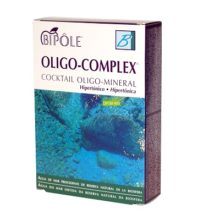 OLIGO COMPLEX BIPOLE INTERSA es un complemento alimenticio cócktail oligo-mineral marino con riqueza natural en minerales, oligoelementos y electrolitos. Indicado cuando es necesario regular el equilibrio ácido-básico del organismo.