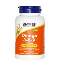 Omega 3 6 9 NOW es un complemento alimenticio a base de aceites de lono, onagra, canola, grosellero negro y calabaza.