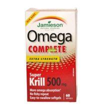 Omega Complete Super Krill Jamieson es un complemento alimenticio a base de sceite puro de Krill antártico.