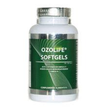 Ozolife Softgels es un complemento alimenticio en forma de cápsulas de gelatina de 1,2g, su activo fundamental es una fracción de aceite de girasol primera presión en frio