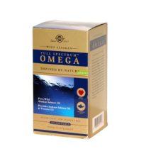Omega Solgar Full Spectrum es un complemento alimenticio a base de salmón salvaje de Alaska, Aceite de salmón rojo y Vitamina D3.
