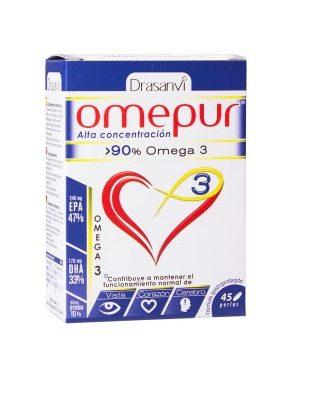 Omepur 3®, es un complemento alimenticio rico en ácidos grasos del tipo omega 3, concretamente DHA y EPA.
