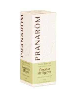 Aceite esencial geranio Egipto Pranarom es un complemento alimenticio antibacteriano, fungicida, antiágico, antiflamatorio, a nivel cosmético, tónico y astringente cutáneo.