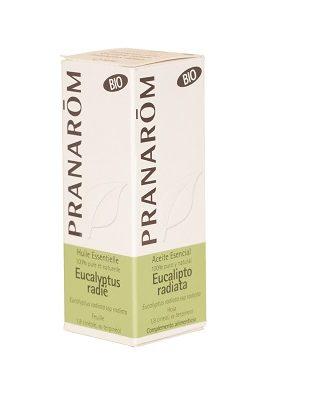 Aceite esencial Eucaliptus Radiata Pranarom es un complemento alimenticio a base de Eucalipto Radiata destilada de su hoja aportando para su uso como aerosol moléculas aromáticas 1,8 cineol, α-terpineol. Tiene propiedades descongestivas.