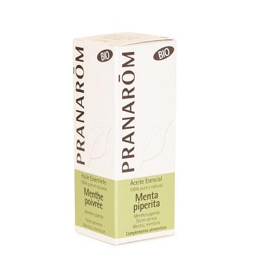 Aceite esencial Menta Piperita Pranarom es un complemento alimenticio a base de menta Piperita, anestésico, analgésico, antipruriginoso, antiinflamatorio urinario e intestinal, antibacteriano, antiviral, colagogo y colerético, tónico y estimulante general, digestivo, antinauseoso, hipertensivo y vasoconstrictor