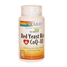 Red Yeast Rice Q10 es un complemento alimenticio a base de levadura roja del arroz obtenida de la fermentación de una cepa de levadura en arroz.