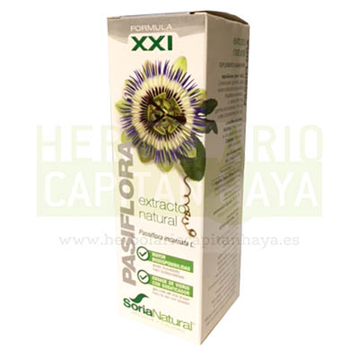 Extracto Pasiflora Soria Natural es un complemento alimenticio que contribuye a la relajación.