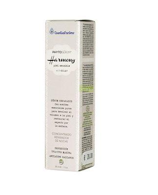 Phytoserum Harmony Esential Aroms es un Serúm Reparador con aceites esenciales puros para devolver el volúmen a la piel y restaurar el aspecto por la mañana.
