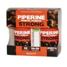 Piperine Pimienta Negra Novity es un complemento alimenticio a base de extractos secos de Pimienta de Cayena, Guaraná y Pimienta Negra y Colina.