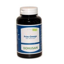 Prim Omega Bonusan es un complemento alimenticio a base de una fórmula de ácidos grasos omega 3 (EPA y DHA) y omega 6 (GLA).