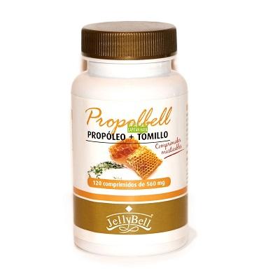 PROPOLBELL JELLYBELLPropolbell Jellybell es un complemento alimenticio a base de propóleo y tomillo.