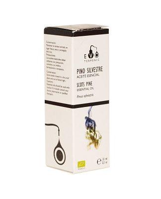 Aceite esencial bio 100% puro de Pinus sylvestris (QT. a pineno) de Austria, obtenido de las agujas. Quimiotipo: Pineno y Limoneno.