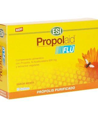 Propolaid Flu Trepadiet-Esi es un complemento alimentico con efecto balsámico y acción emoliente y calmante sobre la mucosa orofaringea que favorece la fluidez de las secreciones bronquiales.
