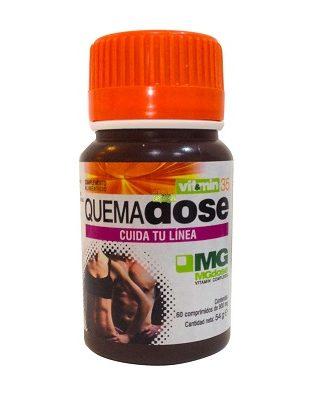 Quemadose MgDose es un complemento alimenticio a base de Polifenoles de uva negra, cetonas de frambuesa, cafeína, L-tirosina, L-teanina y L-taurina.