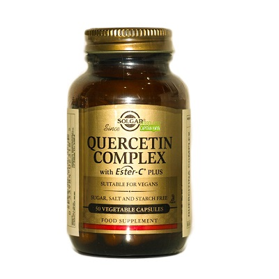 Quercitina Complex Solgar es un complemento alimenticio a base de Quercitina, Vitamina C, Bromelina y extractos de palntas con Bioflavonoides Cítricos.