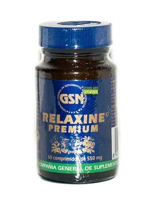 Relaxine Premium GSN es un complemento alimenticio a base de extracto seco de Valeriana y polvos de Valeriana, Espino Blanco,Lavanda y Sauce.