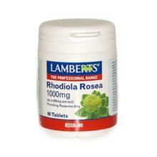 Rhodiola Rosea Lamberts es un complemento alimenticio a base de extracto de Rhodiola Rosea aportando Rosavinas.