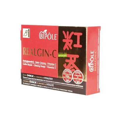 REALGIN-C BIPOLE es un complemento alimenticio a base de Jalea real, Gingseng Rojo y Vitamina C.
