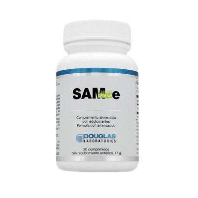 SAM-e Douglas es un complemento alimenticio a base de El SAM-e (S-adenosilmetionina) ;metabolito de la metionina presente en las células vivas.
