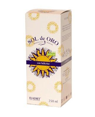 Sol de Oro con Helicriso de Eladiet es un complemento alimenticio líquido a base de helicriso.El Helicriso contribuye a la resistencia normal del organismo en caso de condiciones ambientales severas.