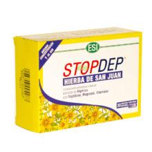 StopDep Hierba de SanJuan ESI es un complemento alimenticio a base de extracto de Hipérico con Triptófano,Magnesio y Vitaminas.