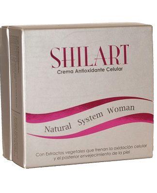 CREMA ANTIOXIDANTE SHILART con resveratrol está indicado para prevenir el envejecimiento prematuro de la piel y reducir las arrugas ya existentes.