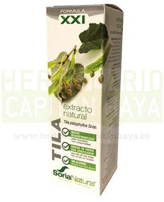 EXTRACTO TILA SORIA NATURALes un suplemento alimenticio, sedante del sistema nervioso, antiespasmódico, diurético, sudorífico y activa las fuerzas defensivas del organismo.