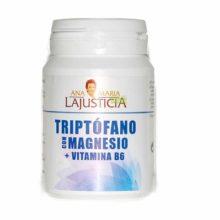 Triptofano Magnesio Vitamina B6 Ana María Lajusticia es un complemento alimenticio a base de L-Triptófano, Magnesio y Vitamina B6.