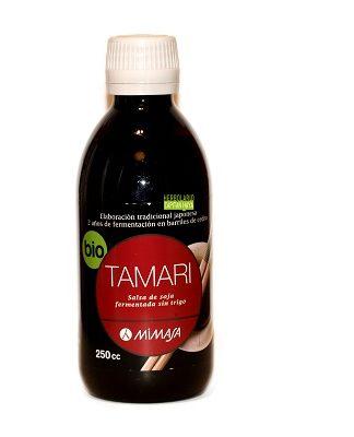 TAMARI MIMASA 250 MLALIMENTACION SANATamari Mimasa 250 ml es una salsa de soja fermentada totalmente pura partiendo de granos enteros de soja según la tradición japonesa.