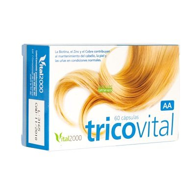 Tricovital Vital2000 es un complemento alimenticio a base de plantas, aminoácidos, vitaminas y minerales.