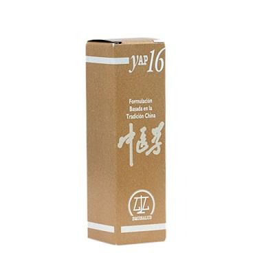 Yap16 Equisalud Bi por Calor-Humedad-Bi Re Xi Xie es un complemento alimenticio a base de Alcachofa;Diente de León;Grama; Hipérico;Rabo de gato;Regaliz; Sauce Blanco; Ulmaria y Verbena.