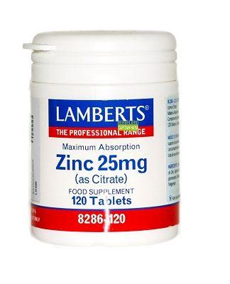 Zinc Lamberts es un complemento alimenticio a base de Zinc en forma de Citrato.
