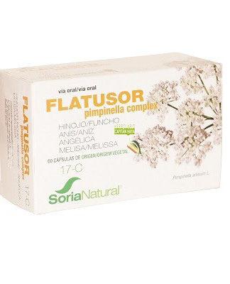 Flatusor Soria Natural es un complemento alimenticio a base de Hinojo, Anís, Angélica y Melisa.