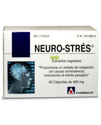 Neuro-stres es un complemento alimenticio que proporciona un estado de relajación, sin causar somnolencia, reduciendo el estrés pasajero.