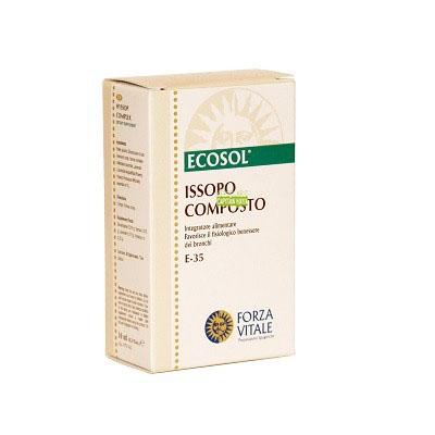 ISSOPO COMPOSTO FORZA VITALE Issopo Composto Forza Vitale es un complemento alimenticio a base de Énula que favorece la fluidez de las secreciones bronquiales.
