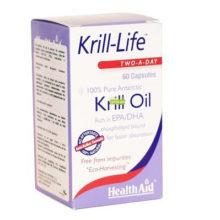 Krill Life Health Aid es un complemento alimenticio a base de aceite puro 100% de krill antártico.