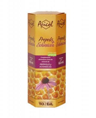 Propolis Echinacea Apicol Tongil es un complemento alimenticio a base de extractos de própolis y echinácea.